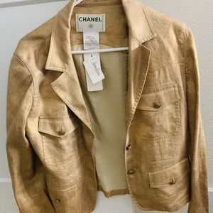 CHANEL- Authentic- Champagne Gold Jacket- NWT